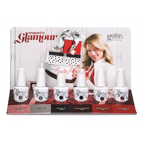 GELISH Wrapped In Glamour Collection 6pc - коллекция гель-лаков Wrapped In Glamour (6 шт по 15 мл)