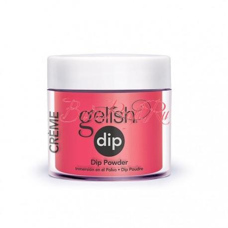 """Gelish DIP powder """"Pink Flame-ingo"""", 23g - акриловая пудра """"Розовое пламя"""""""
