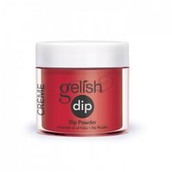 """Gelish DIP powder """"Hot Rod Red"""", 23g - акриловая пудра """"Горячий красный красавчик"""""""