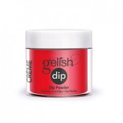 "Gelish DIP powder ""Shake It Till You Samba"", 23g - акриловая пудра ""Эффектный розовый"""