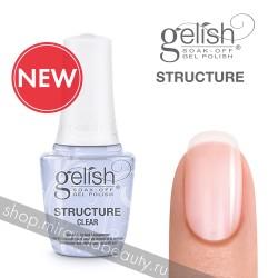 Прозрачный укрепляющий гель с кисточкой.GELISH Structure CLEAR, 15 ml.