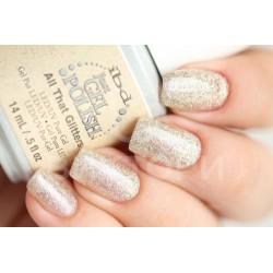IBD, гель-лак №56540, All That Glitters, 14 мл. Белое золото, мелкие блестки