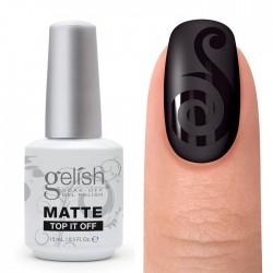GELISH Matte Top It Off, 15 ml - финиш-гель матовый (3 фаза)