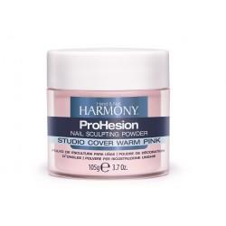 HARMONY Studio Cover Warm Pink Powder, 105 g - камуфлирующая насыщенно розовая акриловая пудра, 105