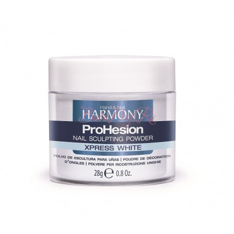 HARMONY ProHesion Xpress White Powder, 28 g - быстроотвердеваемая ярко-белая акриловая пудра, 28 г