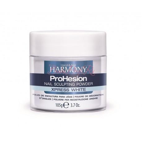 HARMONY ProHesion Xpress White Powder, 105 g - быстроотвердеваемая ярко-белая акриловая пудра, 105 г