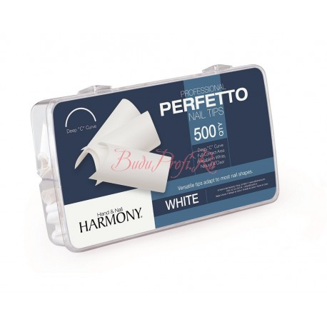 HARMONY White Tips - типсы белые, 500 шт.