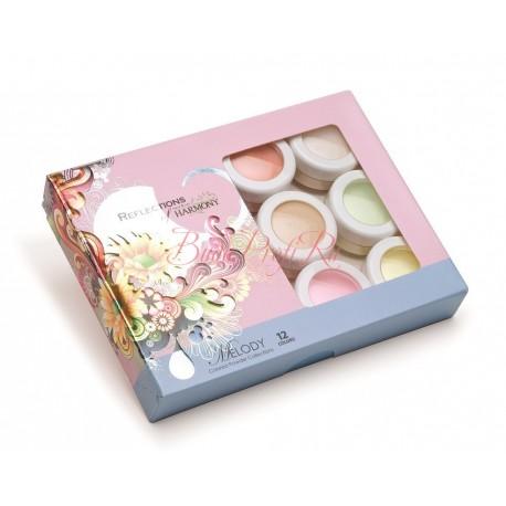"HARMONY Acrylic Colored Powder ""Melody"" - коллекция цветных акрилов ""Мелодия"" (12 шт/уп)"