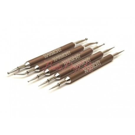 GELISH Dotting Marble Tools 5 pc - набор инструментов ДОТС для дизайна ногтей