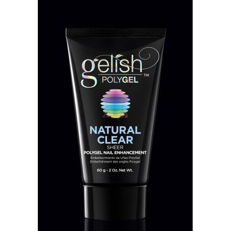 Gelish PolyGel Natural Clear, 60g - прозрачный полигель