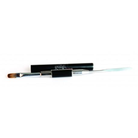 Gelish PolyGel Brush + Spatula Tool - инструмент 2 в 1: кисть + шпатель