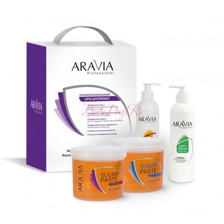 Домашний шугаринг Aravia Professional Сахарная паста Натуральная мягкая 750гр 1018